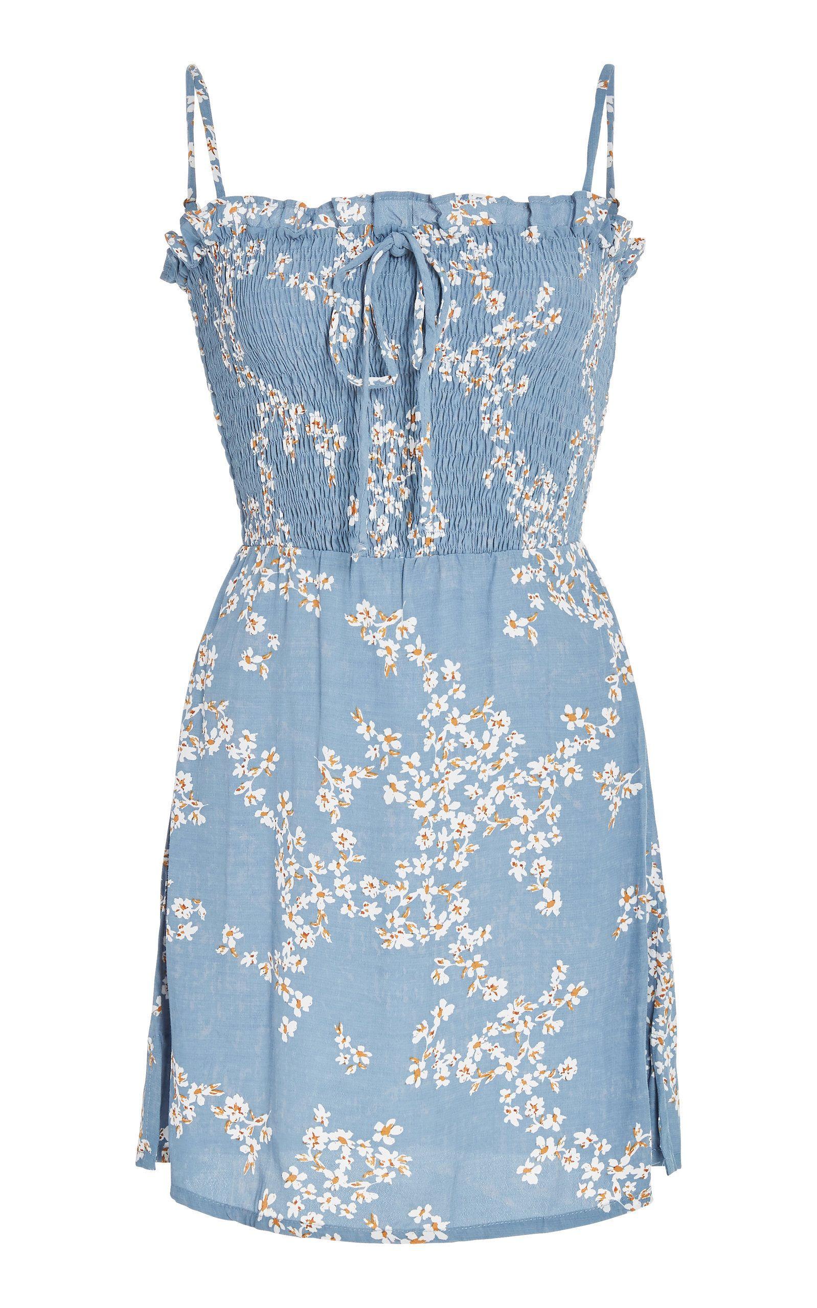 b3056e09e063 Marni Smocked Voile Mini Dress by FAITHFULL Now Available on Moda Operandi