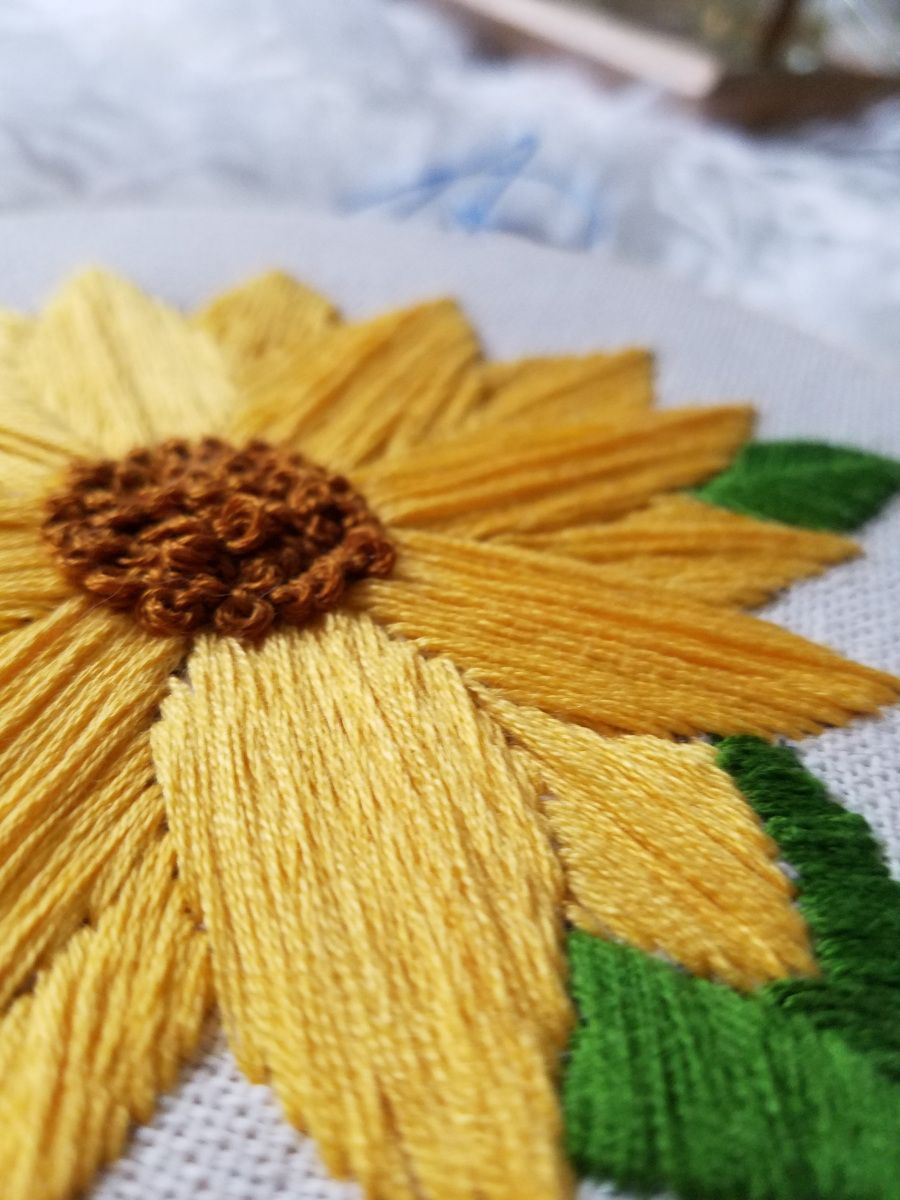 Sunflower Embroidery Free Template Free Embroidery Templates
