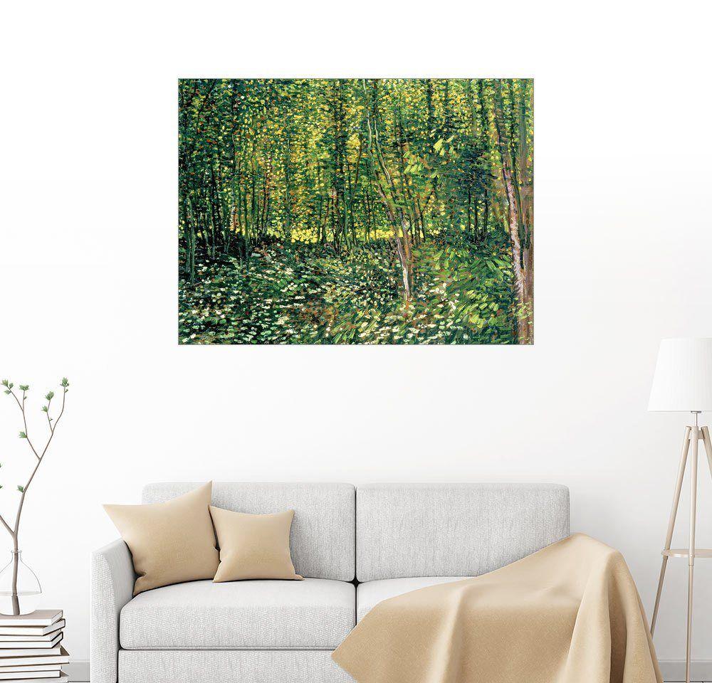 Posterlounge Wandbild - Vincent van Gogh »Bäume und Unterholz« Jetzt ...
