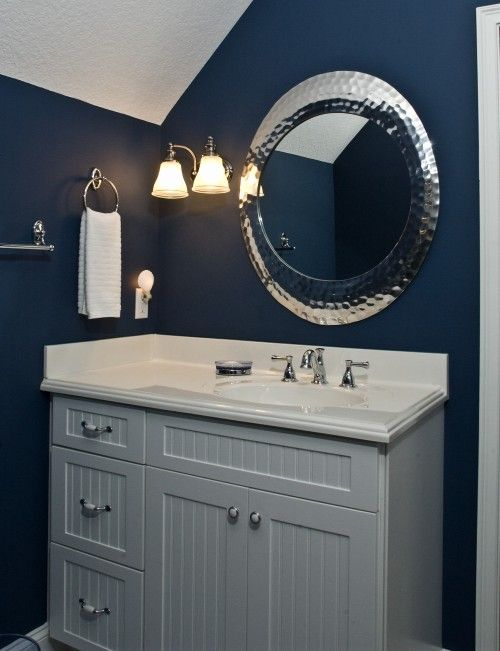 Navy Blue And Silver Bathroom: Blue And Gray Bathroom