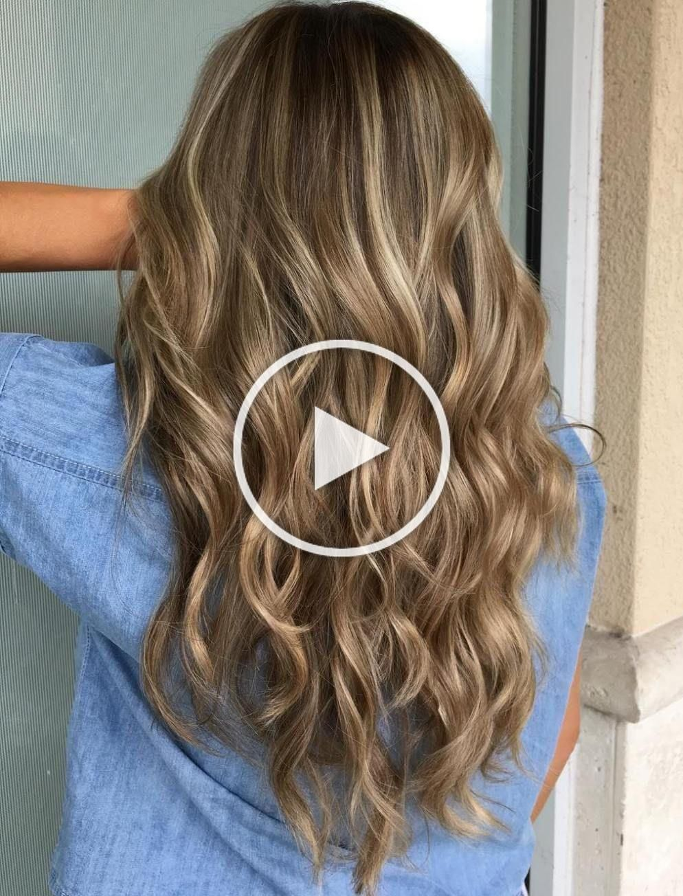 Brown Hair With Beige And Platinum Highlights…REALLY love this!!!😍😍😍