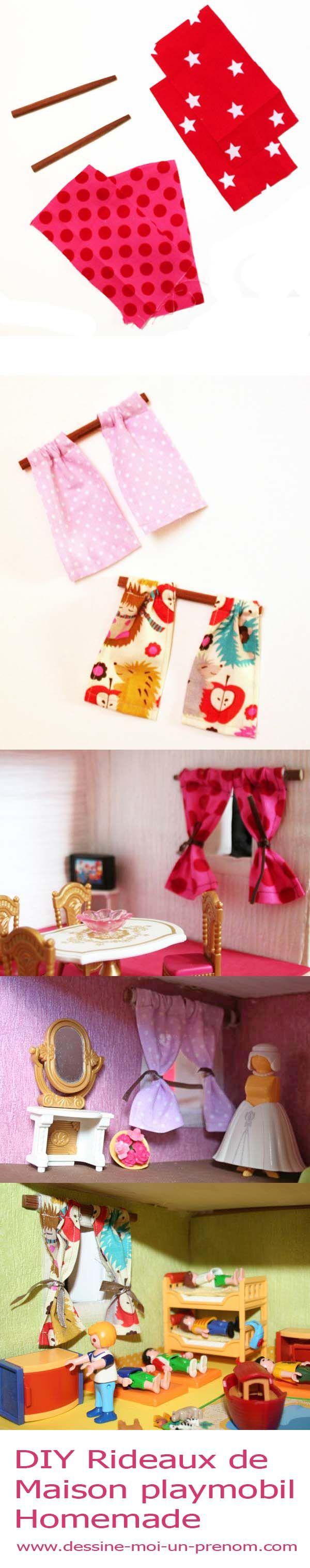 maison playmobil tutoriel pour fabriquer des rideaux. Black Bedroom Furniture Sets. Home Design Ideas