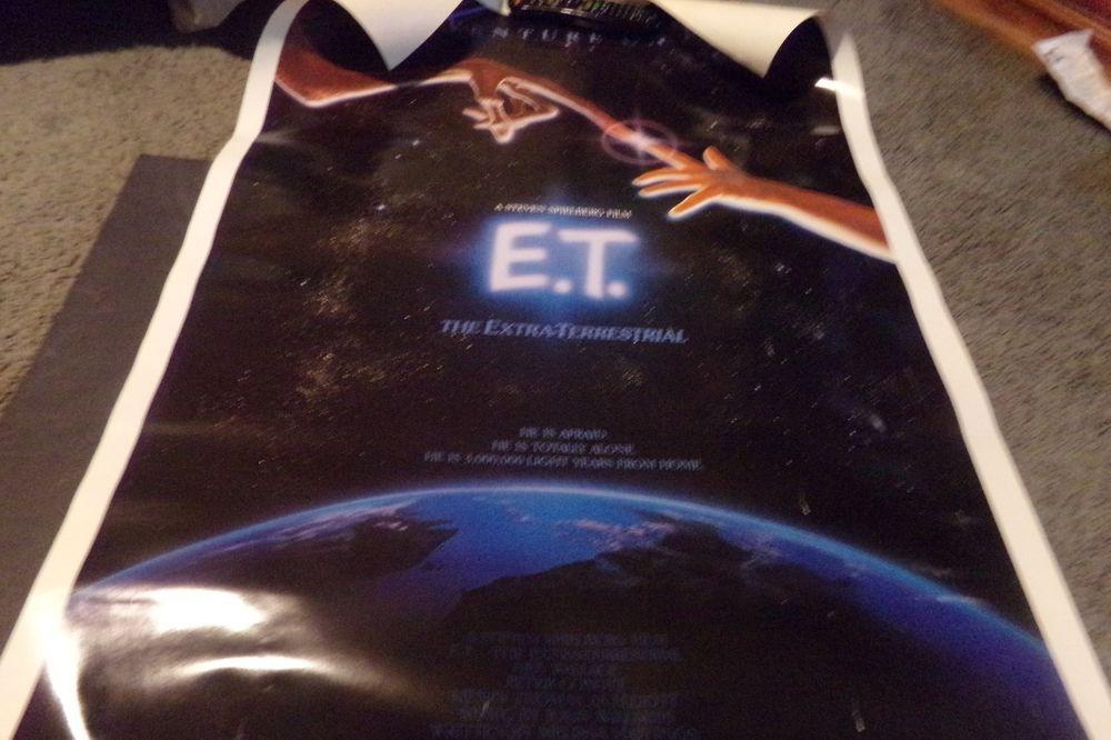 Washington Dc Popout Map%0A Vintage ET ExtraTerrestrial Movie Poster Steven Spielberg Film Touching  Fingers