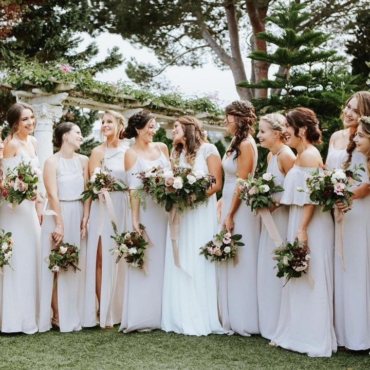 Neutral mix and match bridesmaid dresses | mix and match dresses #bridesmaid #neutraldress #bridesmaidsdresses #neutralbridesmaid #mixandmatchbridesmaiddresses