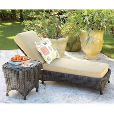 Lake Adela Oatmeal Patio Chaise Lounge