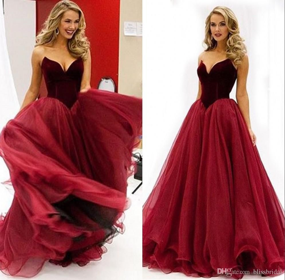Vintage Dark Red Wine Prom Dresses Organza Sweetheart A Line Princess Royal Party Gowns Simple Custom Made E Prom Dresses Burgundy Prom Dress Prom Dresses Long [ 975 x 995 Pixel ]