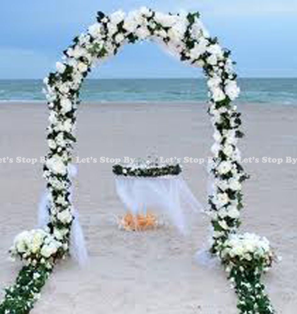 wedding arbor 7 5 FT WHITE METAL ARCH for Wedding Party Bridal Prom Garden Floral Decoration