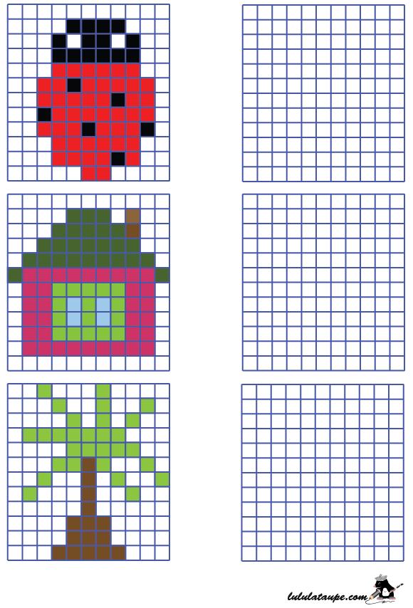 Dessin Quadrillage Lilo Kodlama Coding Math Kindergarten Ve