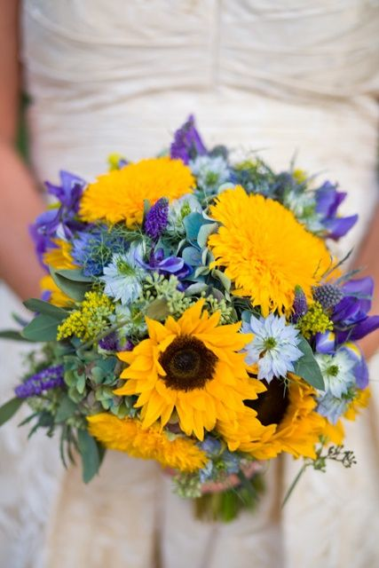 Roses And Sunflowers Bouquet