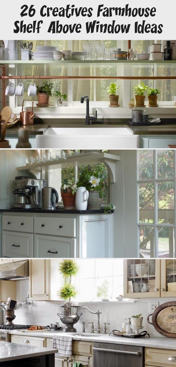 26 creatives farmhouse shelf above window ideas small kitchen redo shelf above window above on farmhouse kitchen window id=90711
