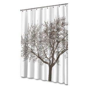 Splash Home Tree Mocha Eva Shower Curtain Cool Shower Curtains
