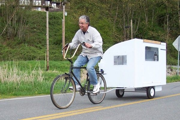 A Real Bike Trailer House Bike Trailer Motorcycle Camping Gear