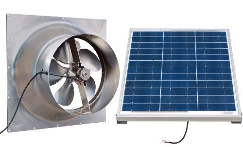 Gable Mounted Solar Attic Fan 50 Watts 3100 Sq Ft By Natural Light 545 00 It Installs Easily With No Solar Attic Fan Solar Powered Attic Fan Attic Fan