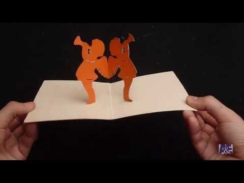 3d Angel Pop Up Card Tutorial Angels Playing Their Trumpets Card Tutorial Cards Template Free