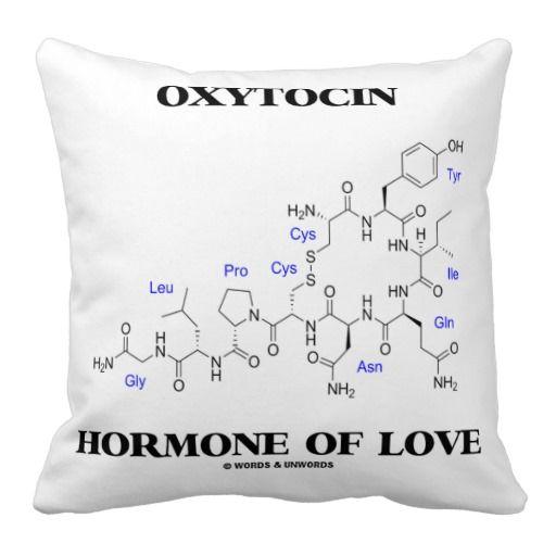 Hormona de la oxitocina del amor (molécula química almohada