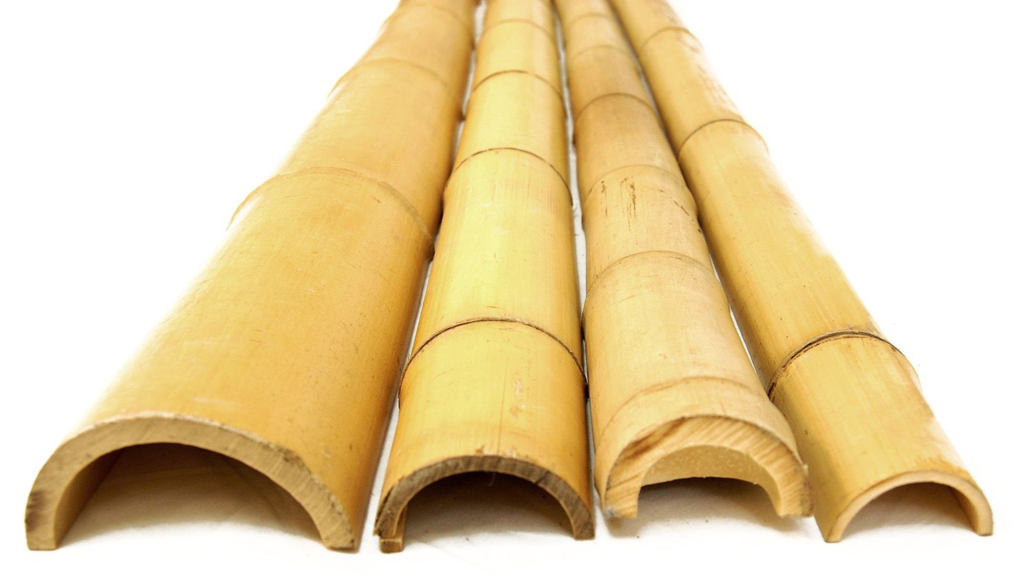 Bamboo Pole Half Round 2 D X 8 H 20 Single Split Pieces