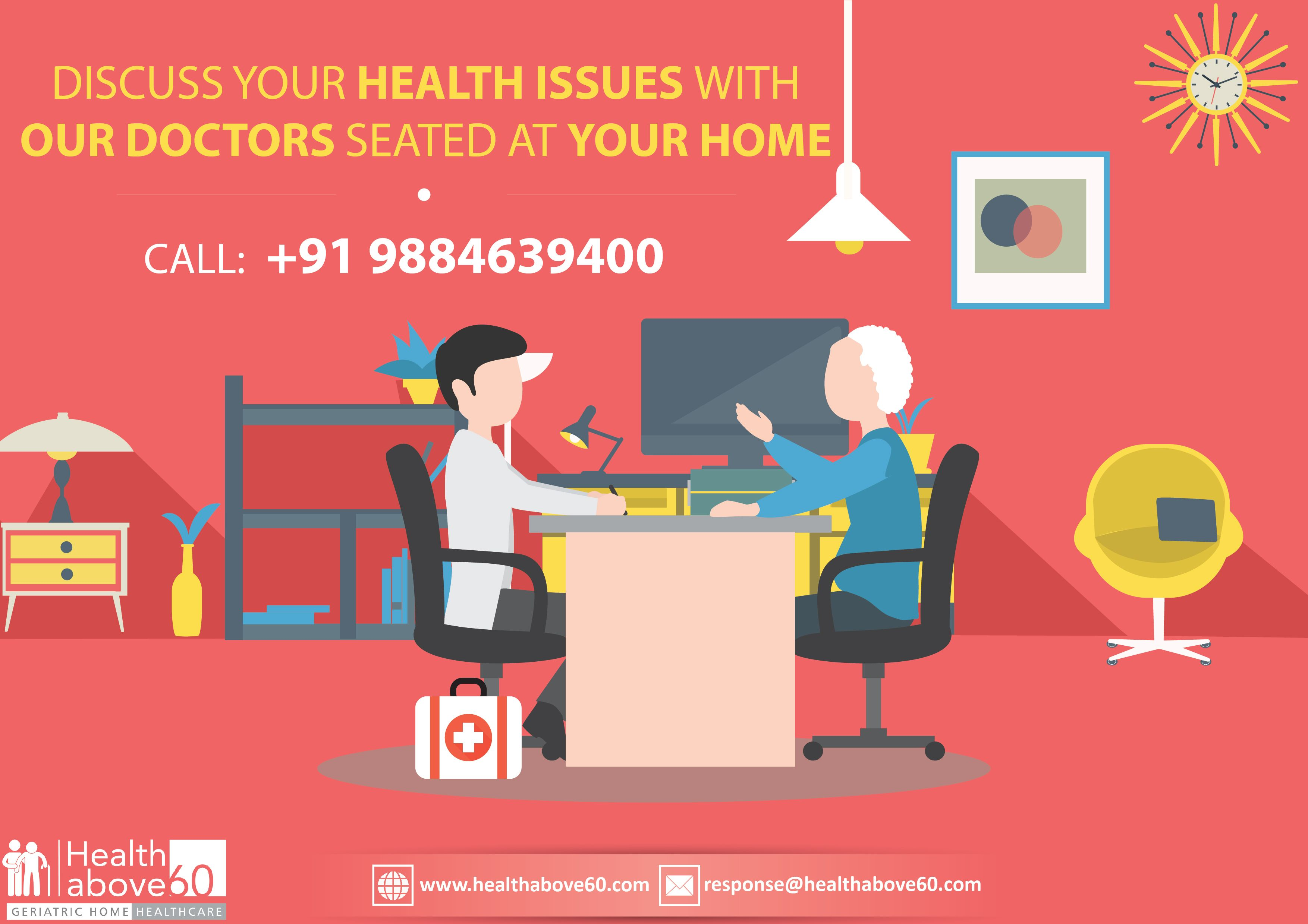 Discuss all your health problems with our doctor, by