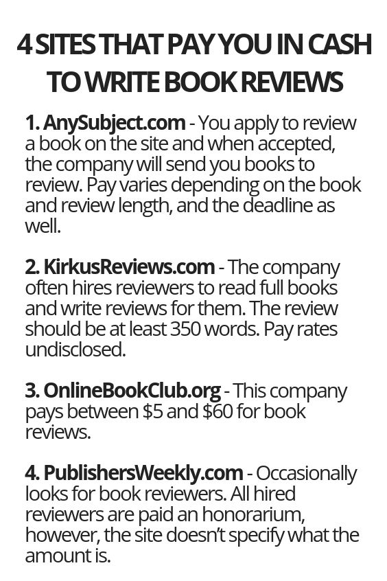 4 Sites That Pay You In Cash To Write Book Reviews