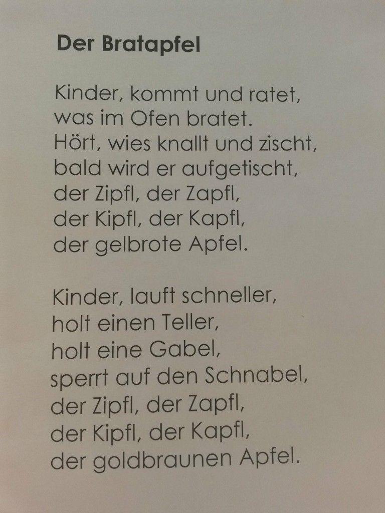 Weihnachtsgedicht Der Bratapfel