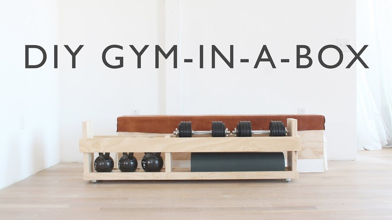 Wonderful DIY Home Gym In A Box    Full Instructions Coming Soon To HomeMade Modern