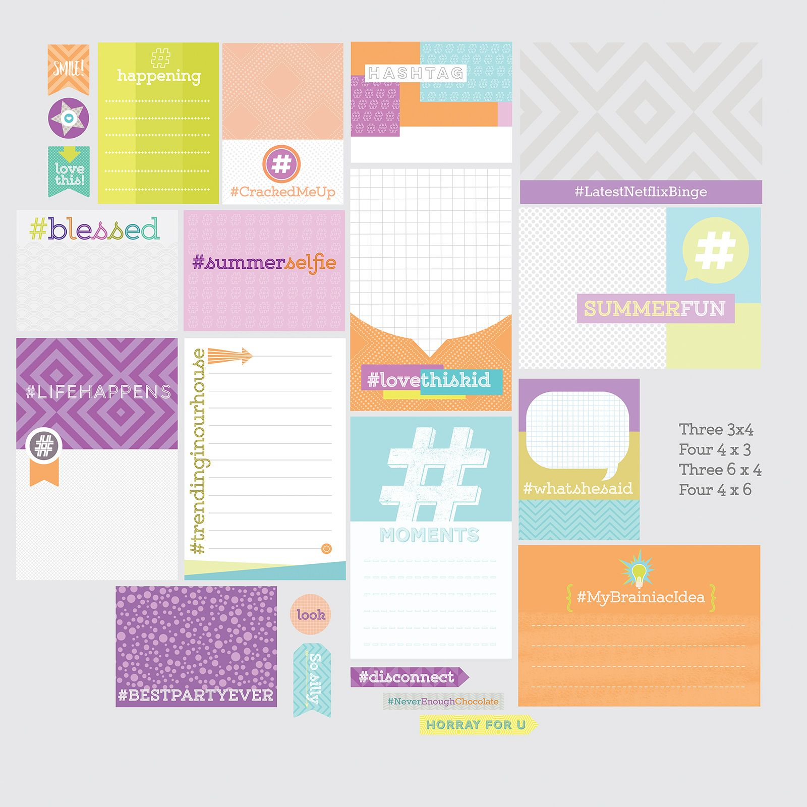 Hashtag Scrapbook Card Collection  Make Today Creative