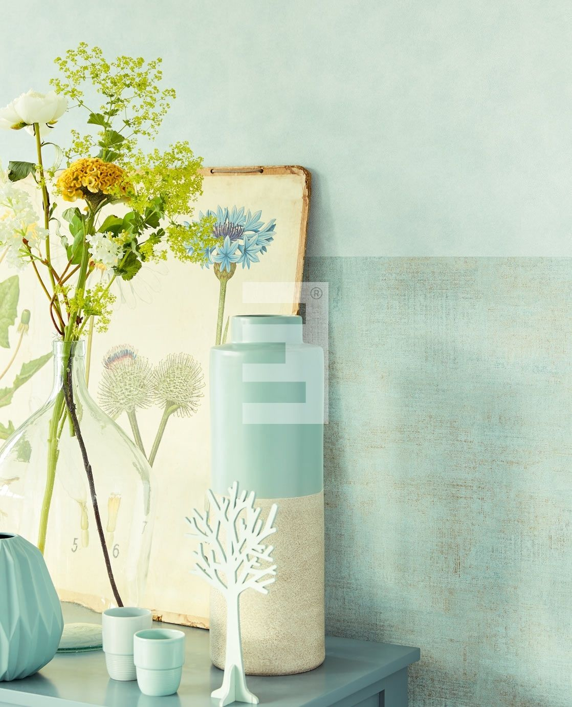 Products - Behang - Kleur:Groen   Behang woonkamer   Pinterest ...