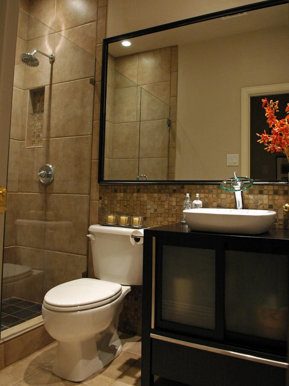 5 must see bathroom transformations oversized mirror for Bathroom photos you must see
