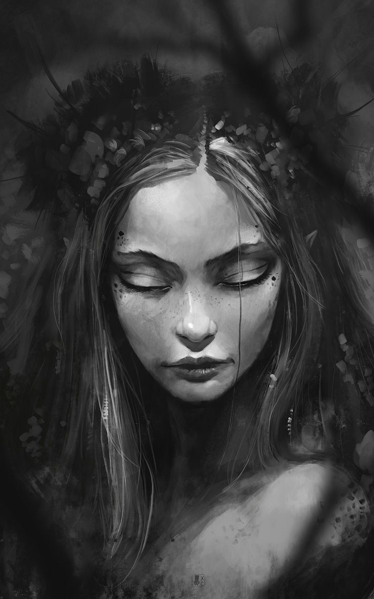 Dark faeries, by Xavier Collette  http://coliandrium.tumblr.com/post/91629042532/dark-faeries