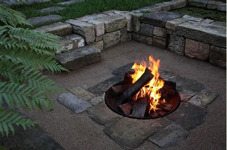 Detail of Spirit Level Design's fire pit - Sydney ...