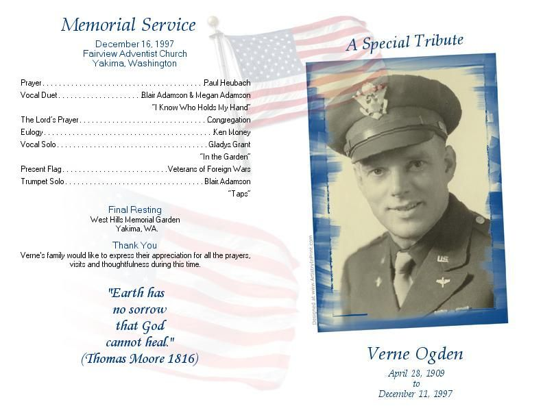 Funeral Bulletin Samples Google Search Grandpa