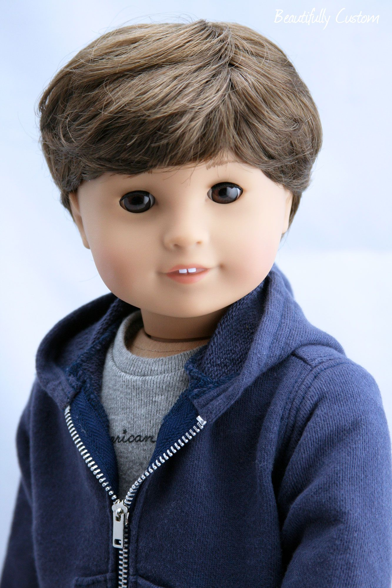 6ac9256c25341 Custom OOAK American Girl Doll BOY ~ Brown Hair and Eyes - Jess with ...