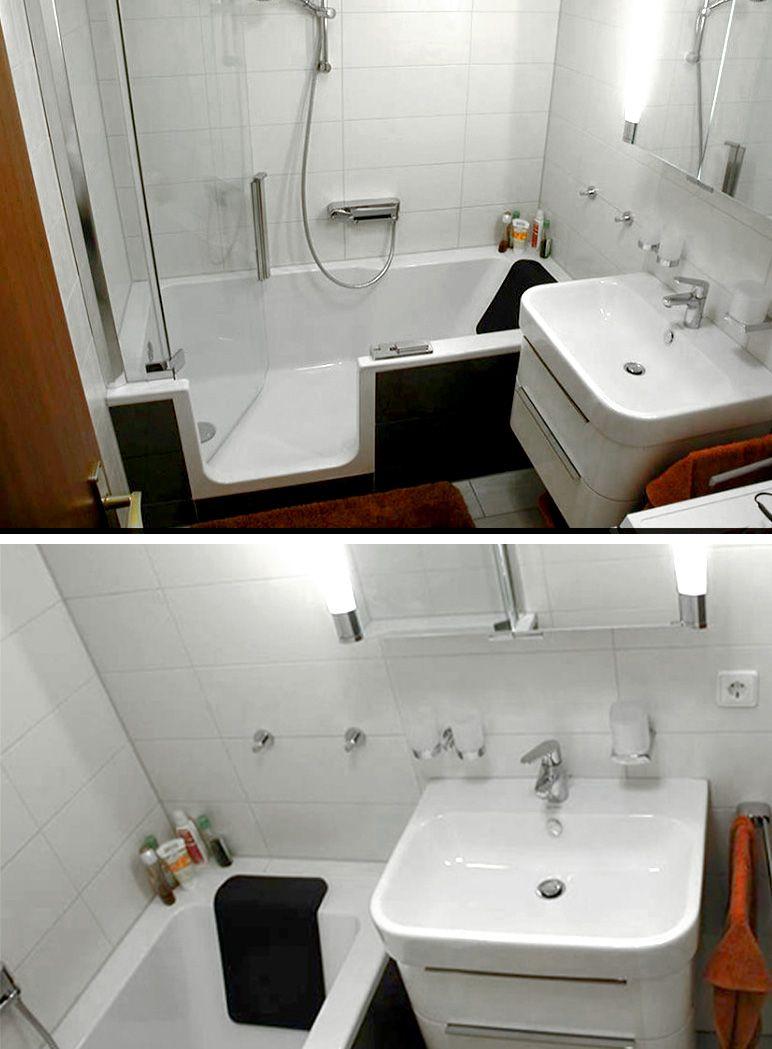Kleines Bad Ganz Gross Sie Haben Ein Kleines Badezimmer Und Wollen Dennoch Vollen Komfort Und Wenn Moglich Auch Noch Pla Duschbadewanne Kleine Bader Dusche
