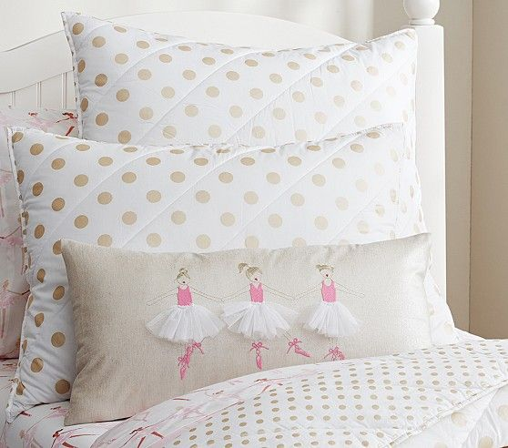 Pottery Barn Decorative Bed Pillows : Ballerina Decorative Pillow Pottery Barn Kids Little Girl Bedroom Pinterest Ballerina ...