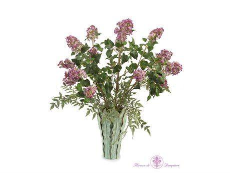 John Richard Glorious Lilacs Floral Arrangement in Vase