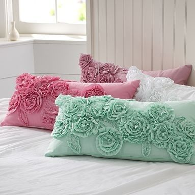 Ruffle & Rose Lumbar Pillow Cover | PBteen - StyleSays