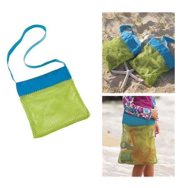 e8cbcf5bf36d Mesh Seashell Bag Kids Beach Collecting Tote. Children playing out on the  beach like. Visit