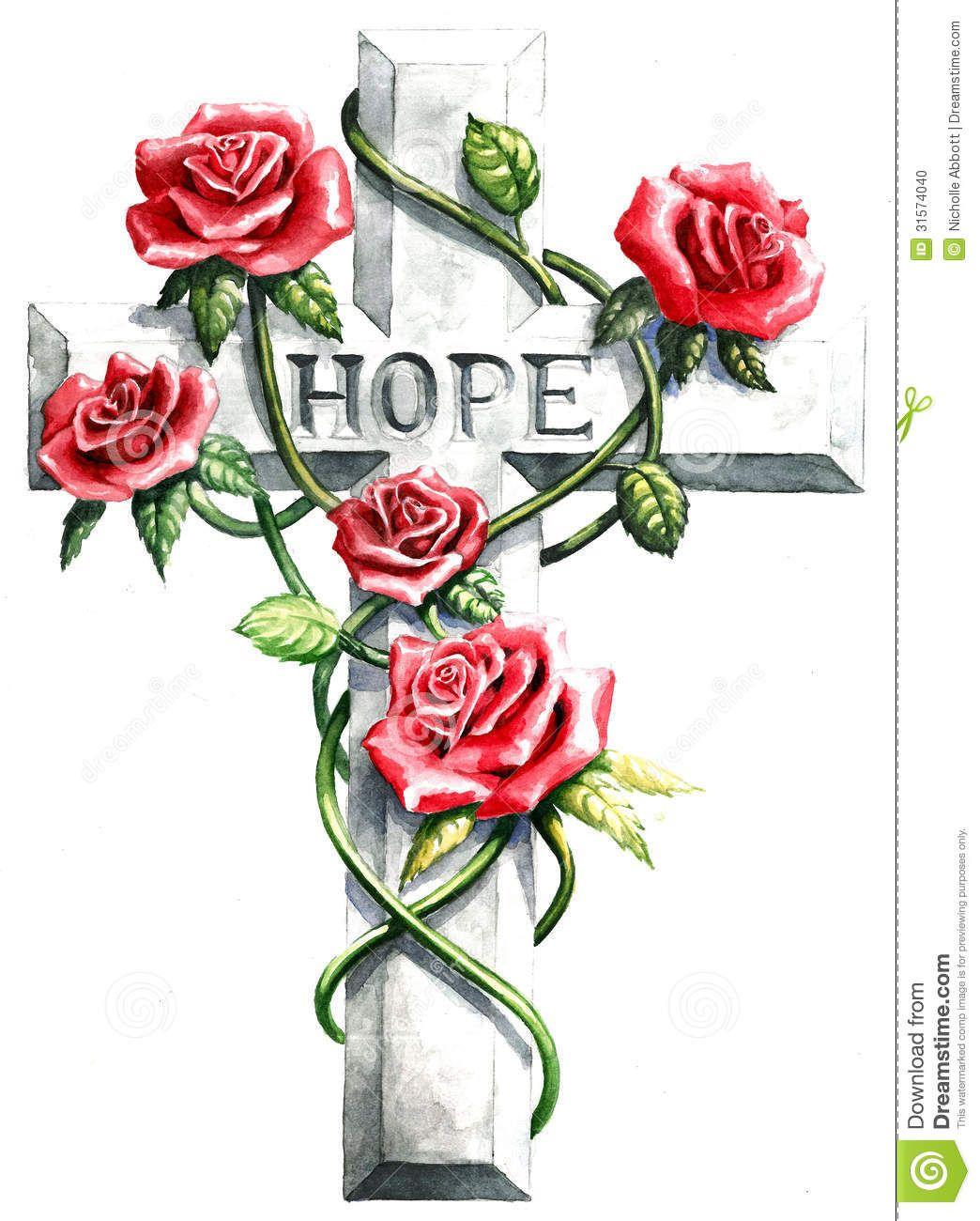 Atractivo Cruz Con Rosas Para Colorear Patrón - Enmarcado Para ...