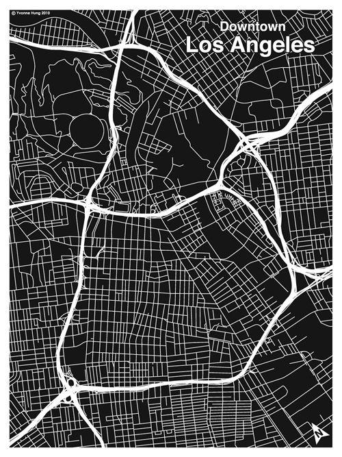 L A Map Print Map Design Map Print Los Angeles Map