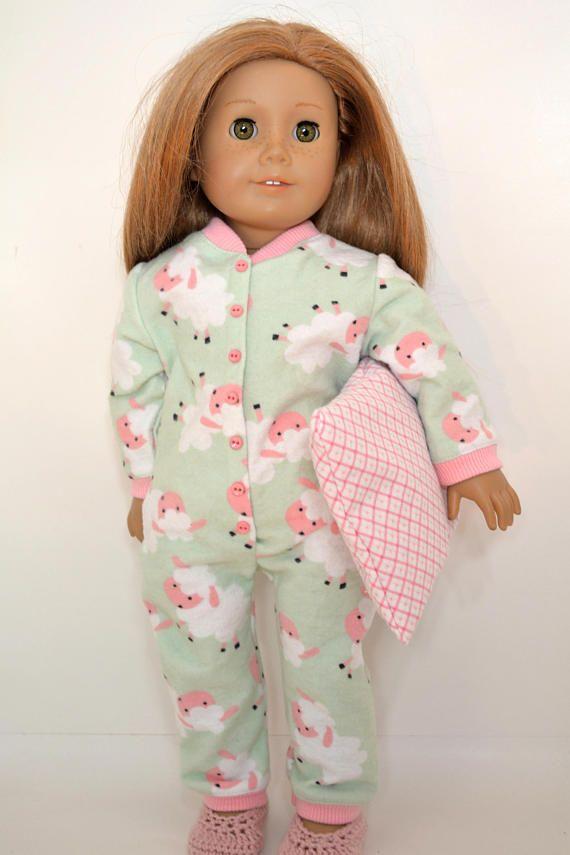 5 Piece Pajama Outfit Fits 18 inch Dolls like American Girl | Pijama