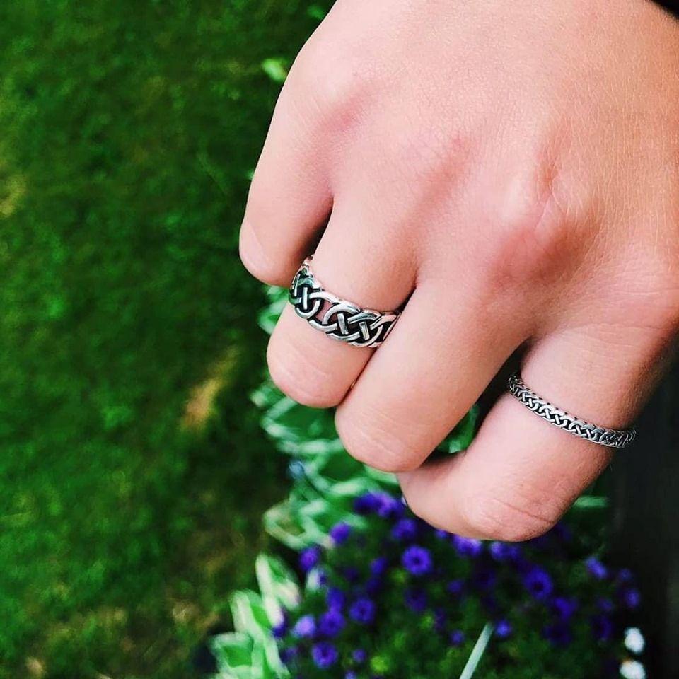Vintage Celtic Ring Vintage Silver ring Estate Celtic Ring Vintage Celtic box pattern Silver Ring Estate Silver Ring.
