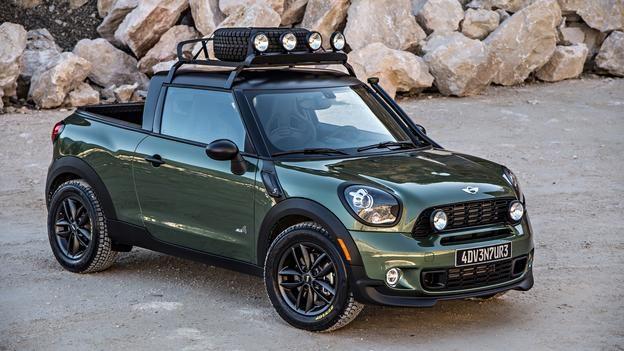 Mini Builds A Paceman Pickup Mini Paceman Mini Cars Mini Trucks