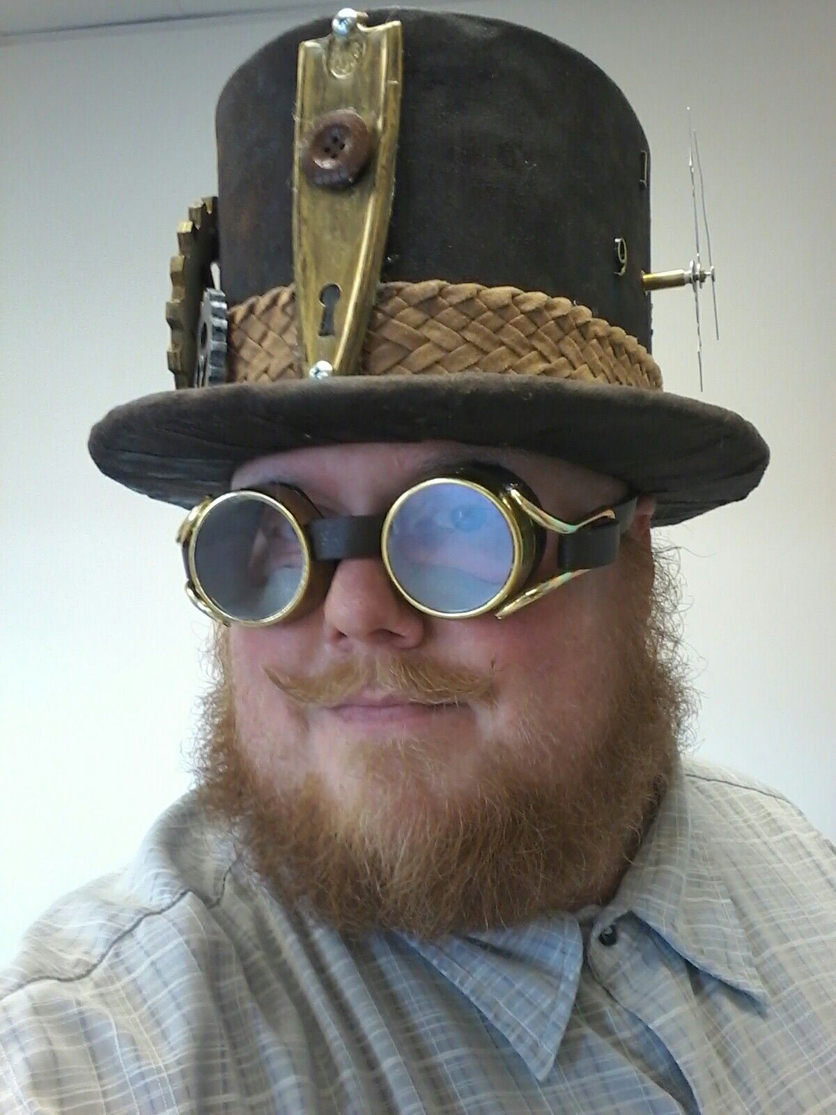 Steampunk Coggler Top Hat Goggles