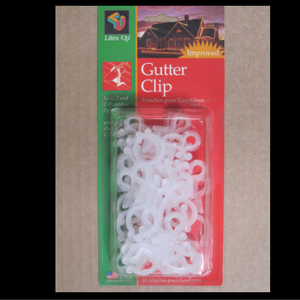 Gutter clip 25 count package christmas light clips christmas light clips aloadofball Choice Image