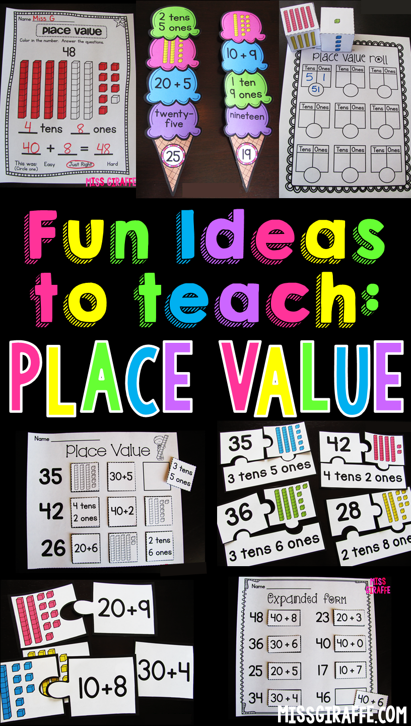 Place value activities and ideas that make learning tens and ones place value activities and ideas that make learning tens and ones expanded form and falaconquin