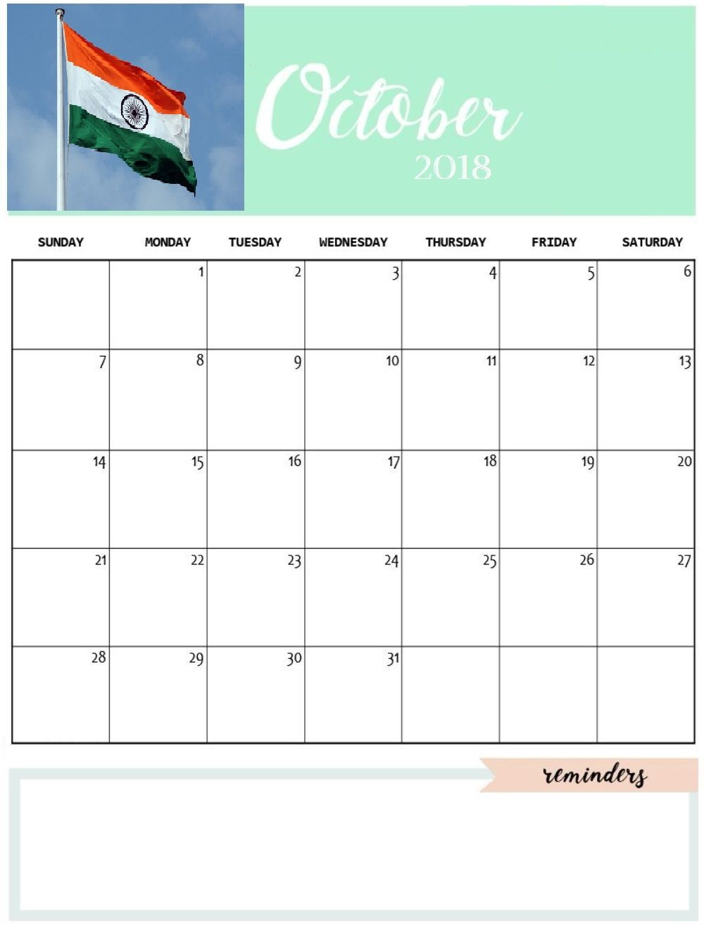October 2018 Calendar India It Is Easy To Find Out Online For