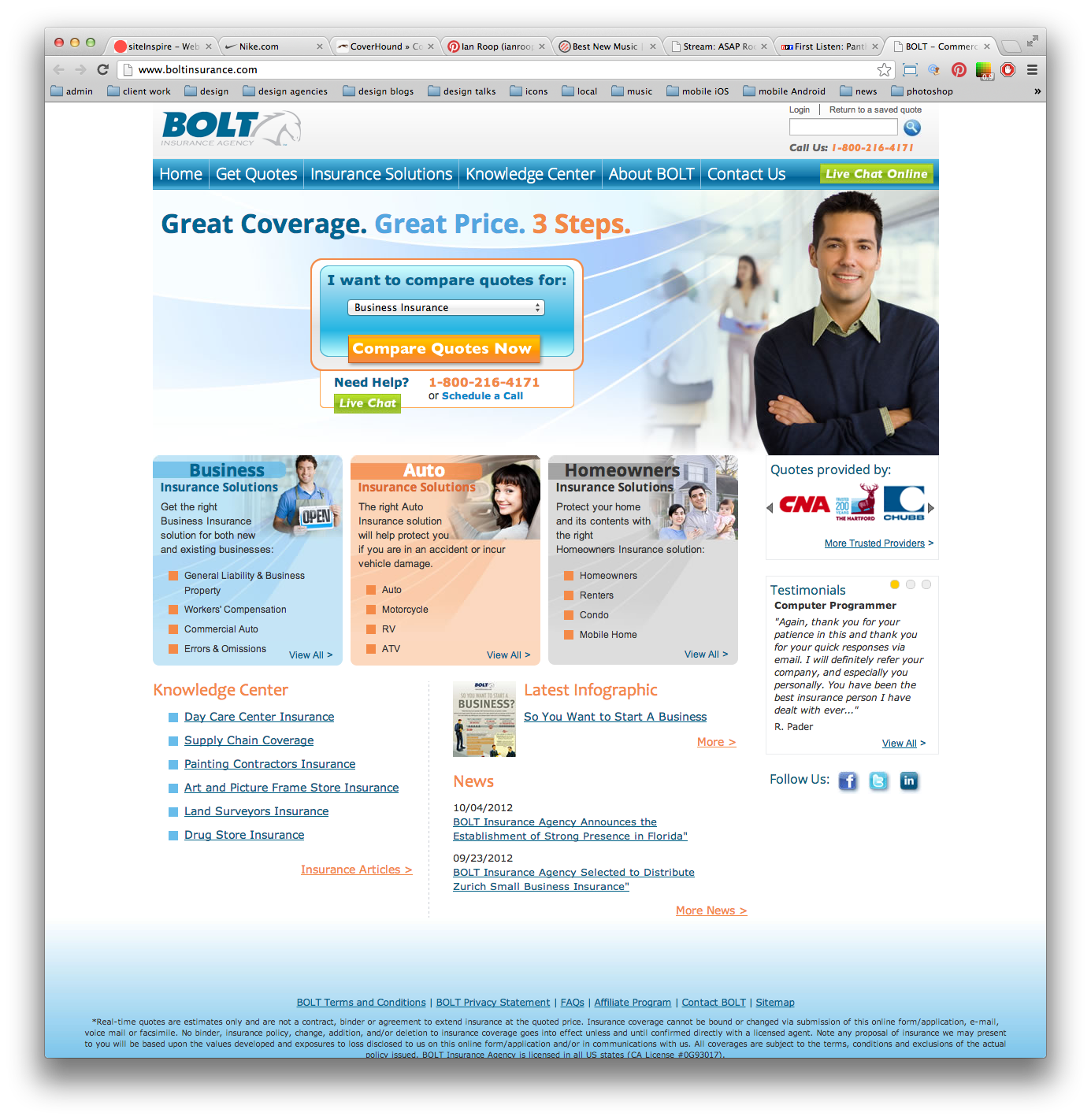 Bolt Insurance Landing Page Https Www Boltinsurance Com