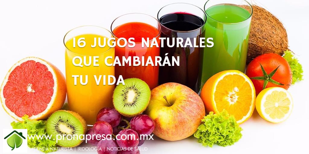 16 Jugos Naturales Que Cambiaran Tu Vida Jugos Para La Gastritis Jugos Y Licuados Jugos Naturales