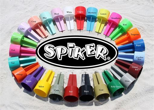 2 Beach Spiker Drink Holders  BLANK  22 Color by sonshinestudios