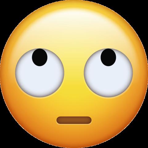 Eye Roll Emoji In Png Free Download Ios Emojis Ios Emoji Emoji Backgrounds Apple Emojis