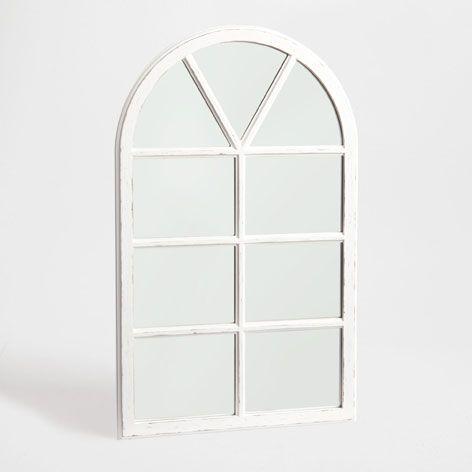 spiegel mit holz in fensterform spiegel dekoration zara home sterreich french country. Black Bedroom Furniture Sets. Home Design Ideas